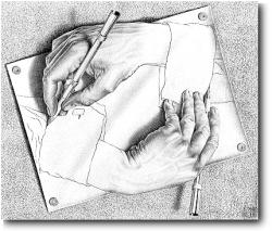 Drawn m.c.escher