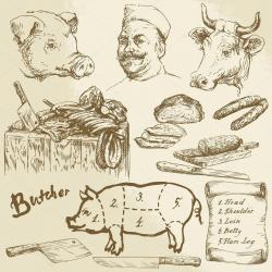 Drawn meat