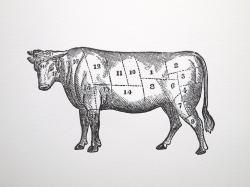 Drawn beef vintage cut