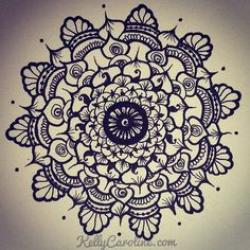 Drawn mehndi circular