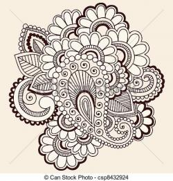 Drawn mehndi doodle