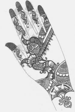 Drawn mehndi drawing