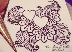 Drawn mehndi henna style
