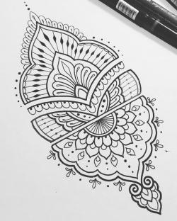 Drawn tattoo pattern
