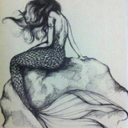 Drawn mermaid
