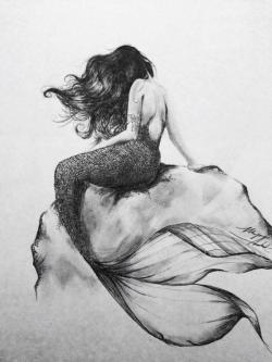 Drawn photos mermaid