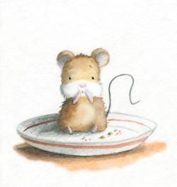 Drawn rodent baby mouse