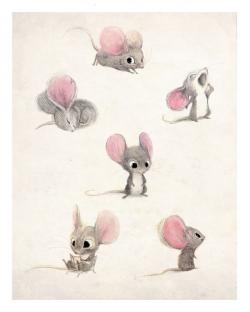 Drawn rodent adorable