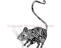 Drawn mice doodle