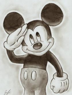 Drawn mickey mouse