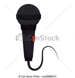 Drawn microphone cord illustration