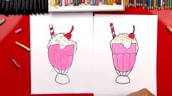Drawn milkshake drawing