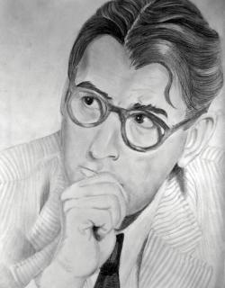 Drawn mockingbird atticus finch