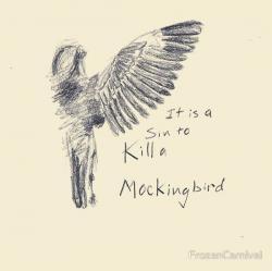 Drawn mockingbird happiness
