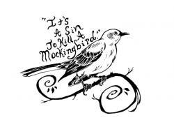 Drawn mockingbird simple
