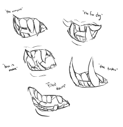 Drawn teeth fang