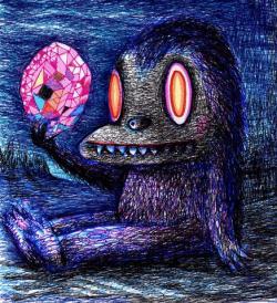 Drawn monster