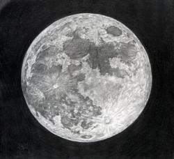 Drawn moon
