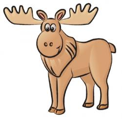 Drawn moose