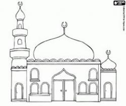 Mosque clipart colouring page
