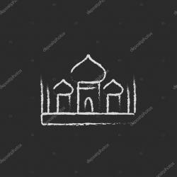 Drawn mosque simbol