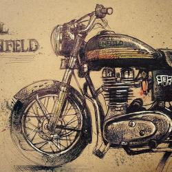 Drawn motorcycle