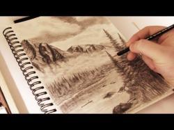 Drawn mountain mist