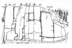 Drawn cilff mountain cliff
