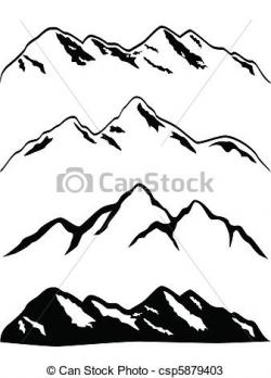 Glacier clipart mountain peak