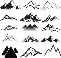 Drawn mountain mountain range