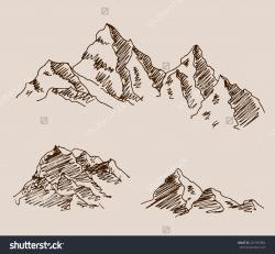 Drawn mountain rocky mountain