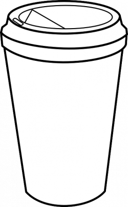 Drawn mug takeaway coffee