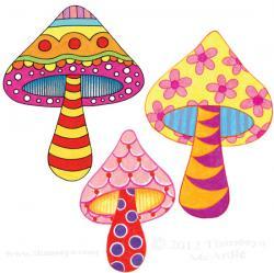 Drawn mushroom
