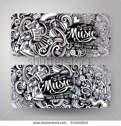 Drawn music banner