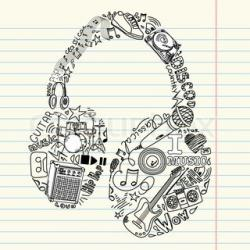 Drawn music classic