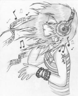 Drawn musician awesome