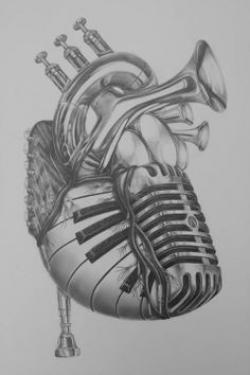 Drawn music lover