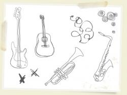 Drawn music musical instrument