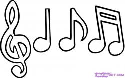 Drawn music notes