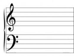 Drawn music notes blank