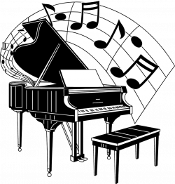 Musical clipart piano notes