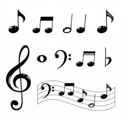 Drawn music notes creative music