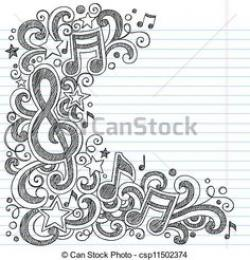 Drawn musician doodle background