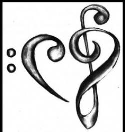 Drawn music notes easy