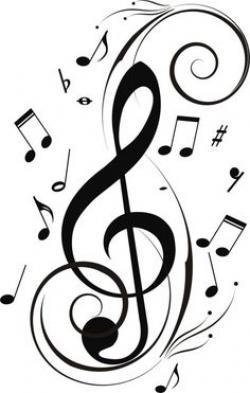 Drawn musician music note