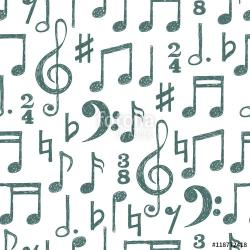 Drawn music notes free music