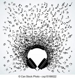 Headphone clipart music note