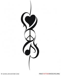 Drawn peace sign peace and love