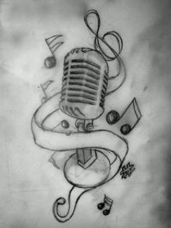 Drawn music music related