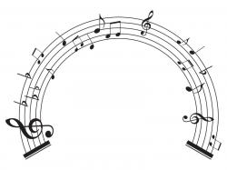 Music Notes clipart circle